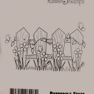 Butterfly Fence Rubber Stamp Butterfly Fence Rubber Stamp pro 14 300x300